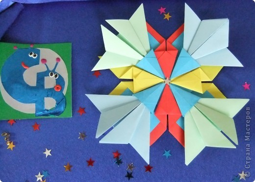 """Звезда называется """"Удача"""". Состоит из 8 модулей """"Крылья"""", 4 модулей """"Шаттл"""" и 8 модулей """"Ракета"""". фото 4"""