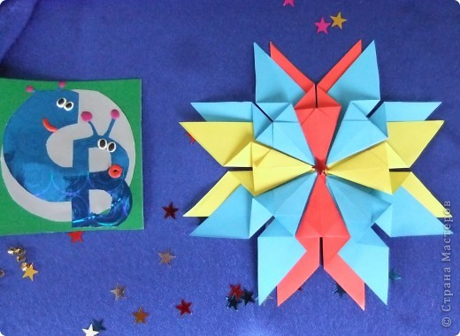 """Звезда называется """"Удача"""". Состоит из 8 модулей """"Крылья"""", 4 модулей """"Шаттл"""" и 8 модулей """"Ракета"""". фото 6"""