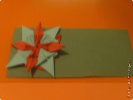 """для этой звезды я взяла по 5 модулей """"шатл"""", """"стрела"""", """"ракета"""". Делала из бумаги для оригами, там в наборе есть золотая бумага! фото 9"""