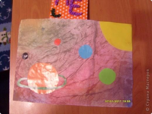 Это моя звёздная карточка(загружаю карточку сейчас, потому что не успела принять участие в первом полёте(((, она выполнена в технике торцевание на пластилине. Это первая моя работа в этой технике, мне очень понравилось делать такие поделки!!! фото 8