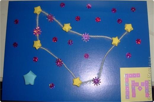 """Моя звезда. Я сконструировала свою звезду из модулей """"Ракета"""" (голубого цвета 4 шт.), """"Крылья"""" и """"Стрела"""" (синего цвета по 4 шт.), """"Шаттл"""" (оранжевого и белого цвета по 4 шт.). фото 3"""