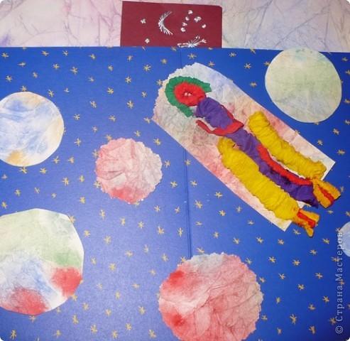 Мы рассматриваем небо, мечтаем полететь в космос, даже наша воображаемая ракета вдруг отправилась в заоблачные дали. фото 2