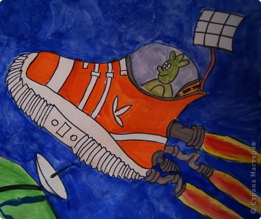 """Моя звезда со второго полета! Для создания моей звездочки я использовал 8 модулей """"Крылья"""", 8 модулей """"Звездолет"""", 8 модулей """"Шаттл"""". И вот, что у меня получилось! фото 2"""