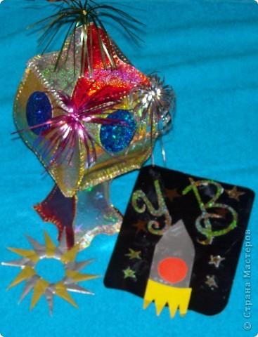 Это моя звездная карточка и аппликация из бумаги. фото 3