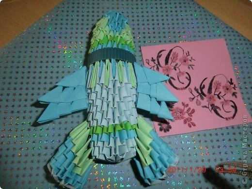 Моя звёздная карточка. Обязательное задание первого полёта. Она сделана с помощью гелевых ручек и цветной бумаги. фото 4