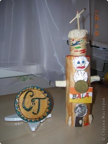 РАКЕТА-НОСИТЕЛЬ.  Я никогда ничего не делал из гофрированного картона. Поэтому решил попробовать по вашему мастер - классу сделать такую ракету. Очень понравилось ее конструировать. А назвал я ее Мечта. Потому что  я мечтаю побывать в космосе. фото 3