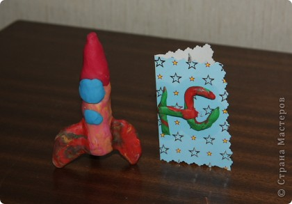 Пластилиновый ракетоноситель фото 1