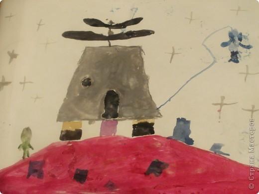 """Какая у нас огромная галактика и каких летающих объектов только не придумали. Вот и я отправляюсь в путешествие и так  первая ракета-носитель """"""""ДД-3"""", ее миссия: узнать есть ли жизнь на Марсе? фото 6"""