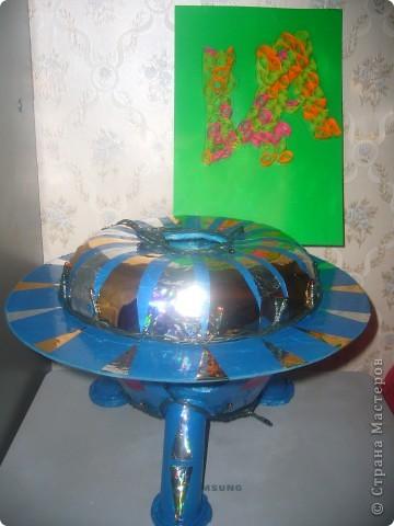 Это моя летающая тарелка, а еще она лампа. фото 1