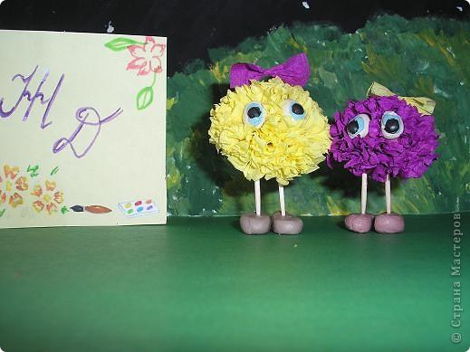 Вот и мои инопланетяне прилетели! Слева жёлтенькая - Одуванчик, а справа - Маргаритка. Они прилетели с Разноцветной планеты, где всегда цветут цветы. Но у них на планете нет ромашек! фото 1