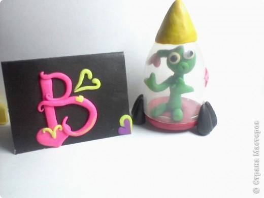 Это моя звёздная карточка Из пластиллина Придумала я сама) фото 3