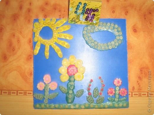 Это моё солнышко оно очень доброе и ласковое. Я нарисовала его витаржными красками. фото 2