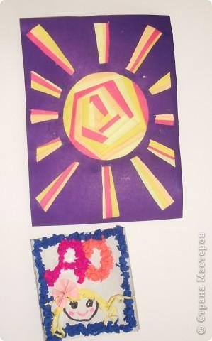 Это Солнышко выполнено в технике объемной аппликации и бумагопластики. фото 3