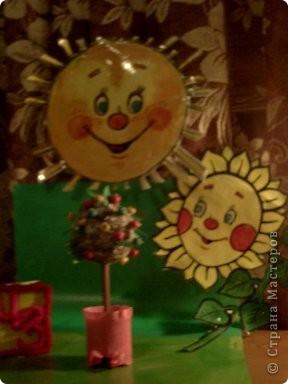 Моя яблонька будущего в лучах солнышка и подсолнышка. фото 1