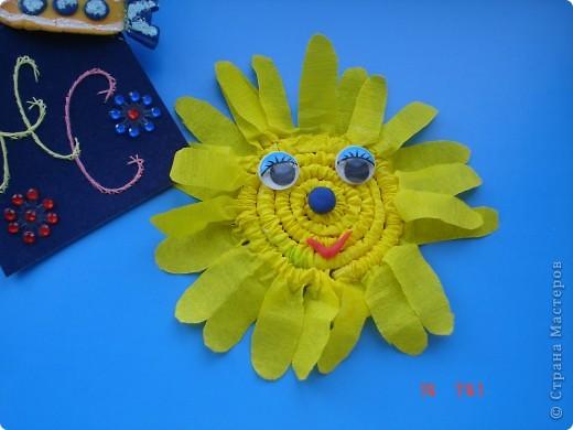 Поклонение Солнцу на Руси. Вот такое Солнышко у меня получилось из соленого теста и синельной проволоки  фото 3