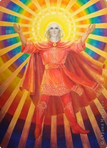 Давным, давно в Древней Русси солнце это был бог, а называли его Ярило. Вот так изображали солнце на Русси в виде скачущего могучего богатыря. фото 3