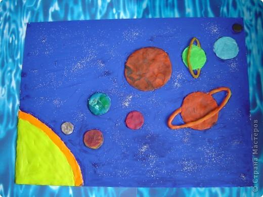 Поделка солнечная система из пластилина