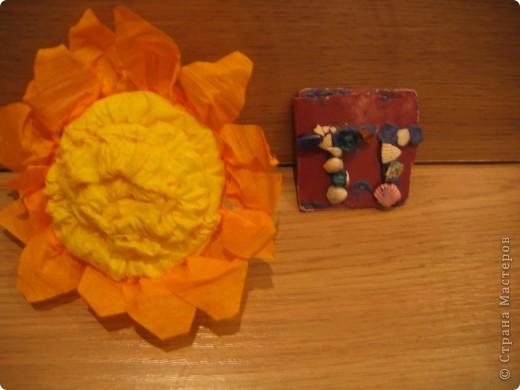 Солнышко из гофротрубочек. фото 1