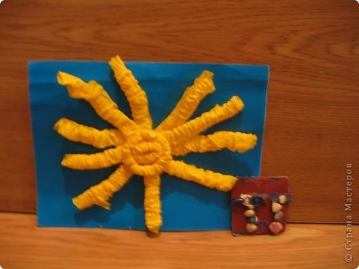 Солнышко из гофротрубочек. фото 2