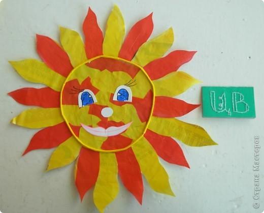 Это мое солнышко из ладошек. Оно мне так нравится! фото 2