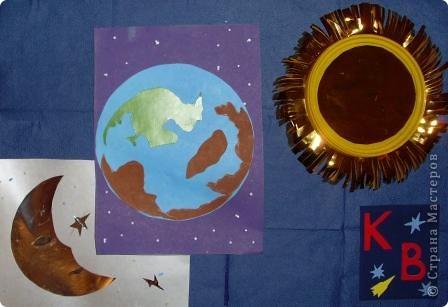 Задание 1. Мастерим Солнце и планеты. Голубая планета - Земля. Так выглядит Земля из космоса. фото 4