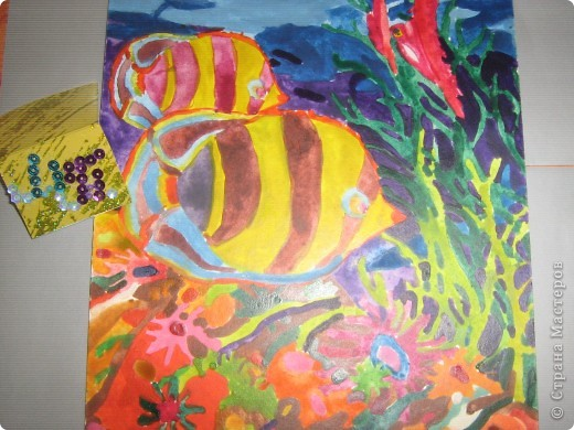 Это моё солнышко оно очень доброе и ласковое. Я нарисовала его витаржными красками. фото 7