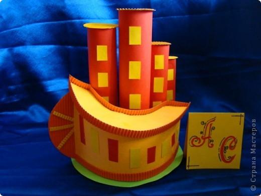 Тема 4. Возрождение Земли Область «Техника, строительство, конструирование» 1) Город будущего. Оранжевый дом - это жилой дом. Дом с антеннами - это отель. Круглый дом - это кофе. Перевёрнутый дом - это школа. Всё будет сделано из прочных материалов. фото 4