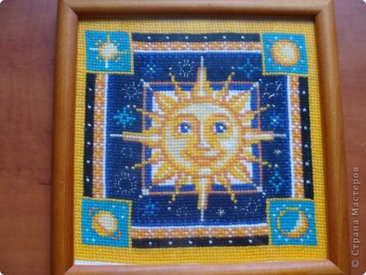 Это солнышко я вышивала два месяца наконец то работа закончена. Раньше я и не знала что оно пригодится в полётах. фото 1