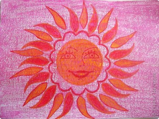 Солнышко №1   Аппликация из шерстяных ниток.   Солнышко такое теплое, мягкое, ласковое фото 5