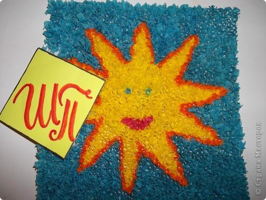 Всем снова привет! Это мое солнышко. Я его сделала из соленого теста и раскрасила гуашью. фото 5