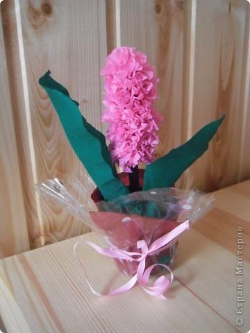 Моя любимая техника-торцевание на пластилине.А любимый мамин цветок-гиацинт. фото 1
