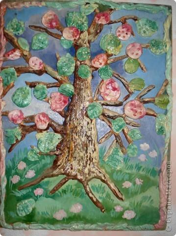 "Декоративное панно ""Цветущая яблонька"" фото 1"