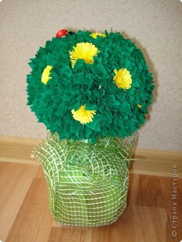 """Вот такое """"тепленькое"""" весеннее деревце я представляю в конкурсе! Это деревце-полянка (имитация поляны одуванчиков)! фото 1"""