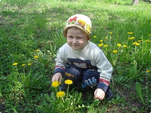 Люблю лепить из пластилина разные машинки, самолеты, тракторы, но весной так много одуванчиков, что захотелось вылепить цветочки. фото 3