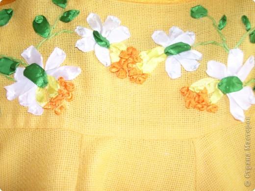 """Комплект сарафан и украшения""""Весенние цветы"""" фото 2"""