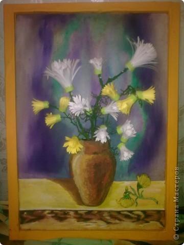 """""""Цветы Весны!"""" Весенняя композиция из бросового материала, с использованием различных техник: папьемаше, квилинг, живопись. фото 1"""