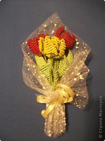 Букетик тюльпанов фото 1