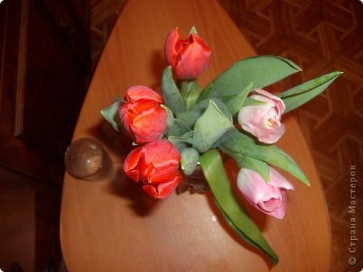 Букетик тюльпанов фото 2