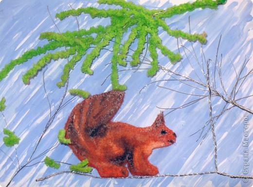 Белочка в весеннем лесу фото 1