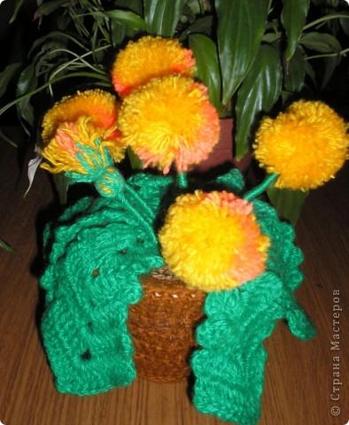 Одуванчик (вязание крючком). фото 4