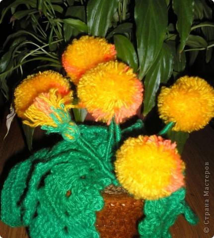 Одуванчик (вязание крючком). фото 1
