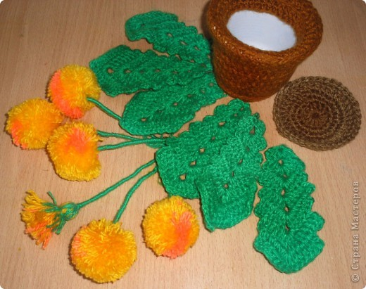 Одуванчик (вязание крючком). фото 3