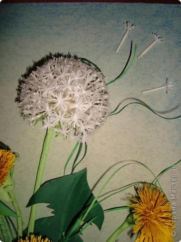 Вот такое пополнение в дружную семью конкурсных одуванчиков я сделала. Думаю изображение именно этого цветка будет самым частым в весеннем конкурсе.  фото 2