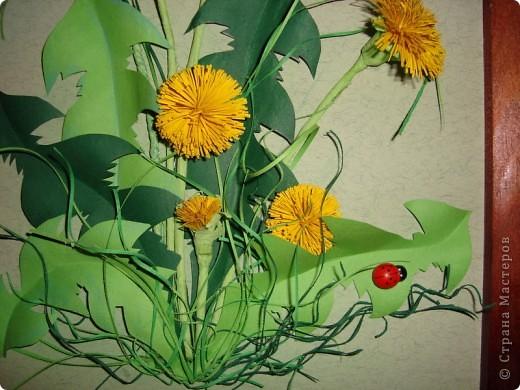 Вот такое пополнение в дружную семью конкурсных одуванчиков я сделала. Думаю изображение именно этого цветка будет самым частым в весеннем конкурсе.  фото 3