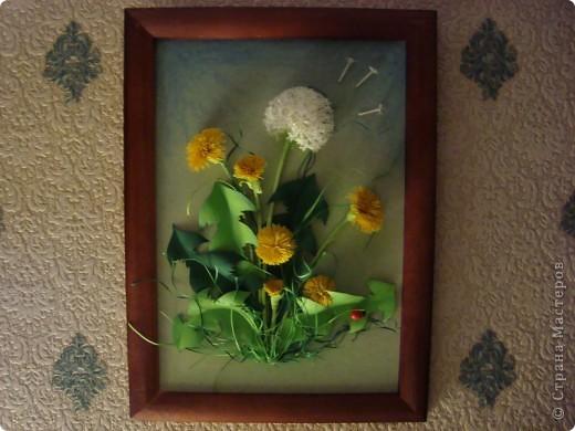 Вот такое пополнение в дружную семью конкурсных одуванчиков я сделала. Думаю изображение именно этого цветка будет самым частым в весеннем конкурсе.  фото 4