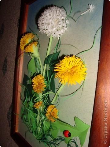 Вот такое пополнение в дружную семью конкурсных одуванчиков я сделала. Думаю изображение именно этого цветка будет самым частым в весеннем конкурсе.  фото 5