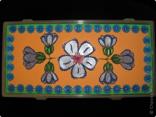 Вот и я дождалась, когда у нас зацветут какие-нибудь цветочки, чтобы сделать чего-нибудь для конкурса. Дождалась. Нафотографировала подснежники, одуванчики и медуницу. Больше пока природа нас ничем не балует. Предлагаю вашему вниманию декор шкатулки для ниток в технике изонить. фото 2
