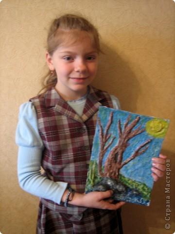 """Весеннее дерево в технике """"бумагопластика"""" фото 3"""