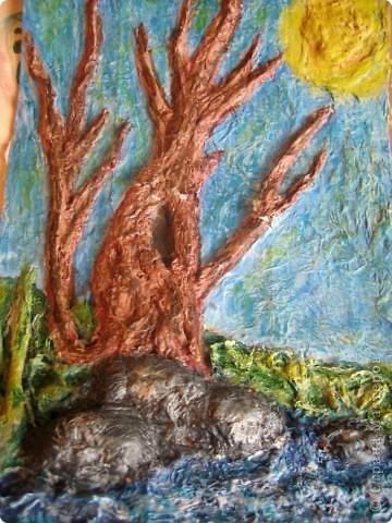 """Весеннее дерево в технике """"бумагопластика"""" фото 2"""