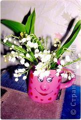 Ландышы белоснежные в вазе на салфетке. Лиза 6 лет и Ариша 2 года делали с помошью мамы. Вот что у нас получилось: фото 7